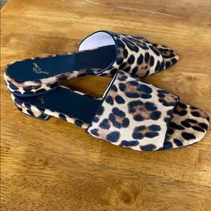 *NEW* J Crew Calf-Hair Cheetah Mule